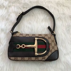 Authentic Gucci Hasler horsebit pochette mini bag